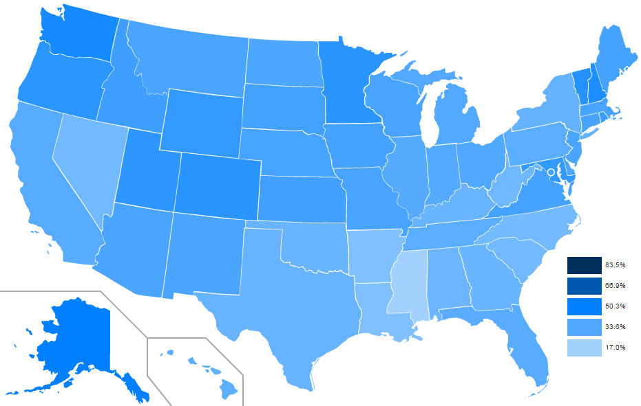 Use States Map.Mapping Computer And Internet Use By State Introducing Data