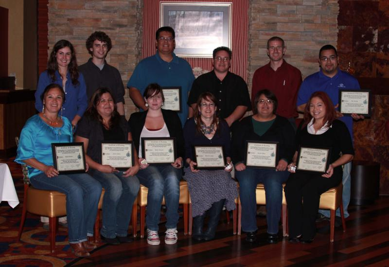 New graduates from The Saint Regis Mohawk Tribe's digital literacy training course and their instructors